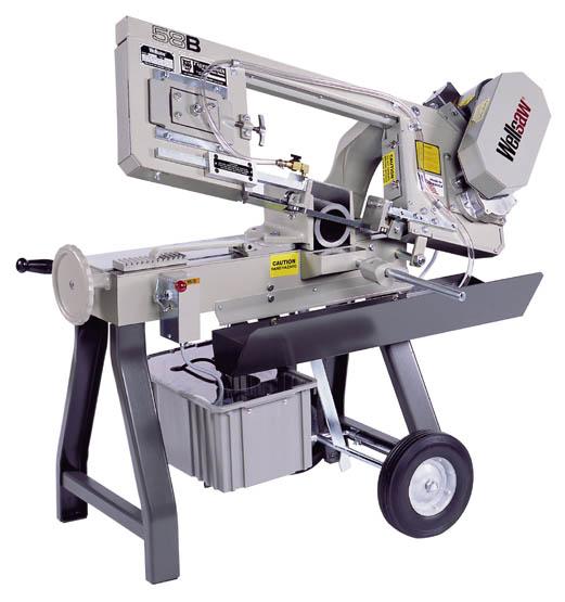 Model 58BD/58BW, Portable, Metal Cutting Bandsaw – Wellsaw